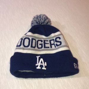 new era dodgers beanie